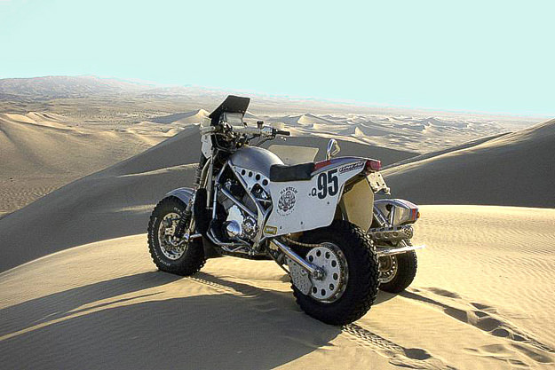 Harley V-Rod racing Dakar sidecar from Hog Wild Racing