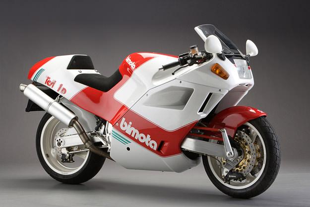 1991 Bimota Tesi 1D hub-steered motorcycle