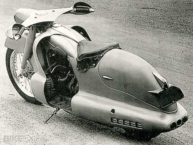 BMW R12 custom streamliner by Louis Lepoix