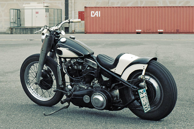 1957 Harley panhead custom by Ace Motorcycles of Japan