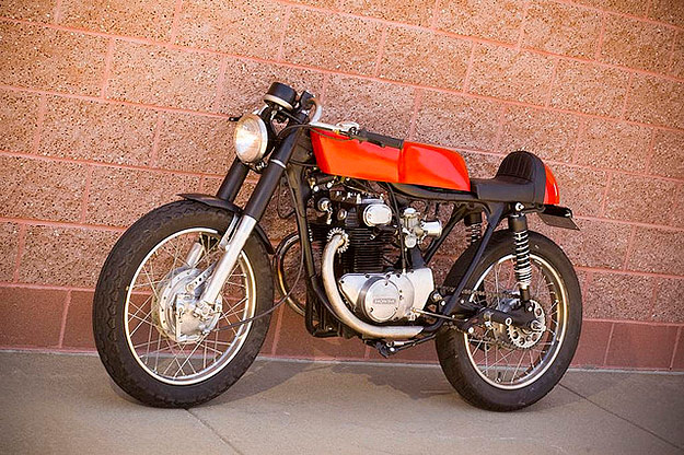Zach OBrien Got His 1971 CB350 For Just 400 Running And Titled Hes Built Several Bikes But This One Is A Favorite Wife Daughter Son All