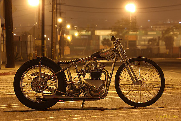 Triumph pre-unit custom motorcycle