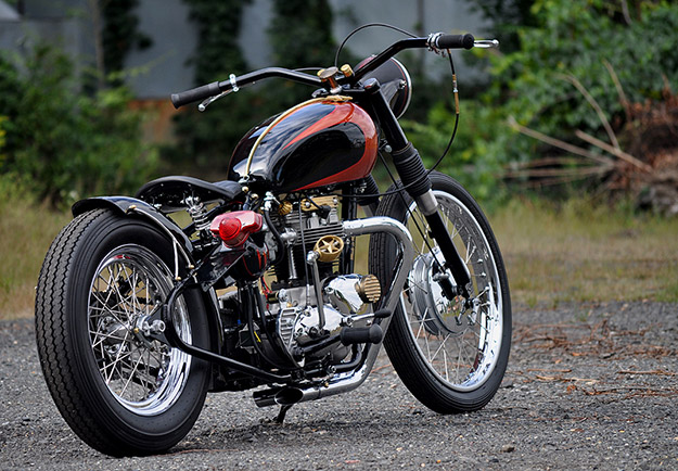 Triumph TR6 Tiger custom motorcycle
