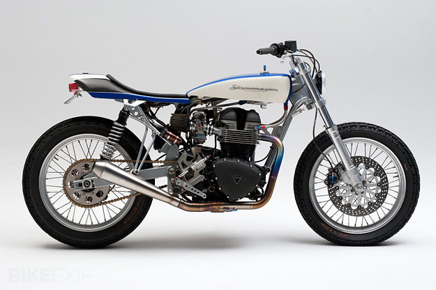 Custom Triumph: The Streetmaster tracker prototype