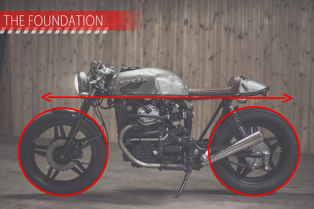 THE FOUNDATION The foundation contributes most to the structure, direction and general 'easiness on the eye' that makes a bike a café racer.