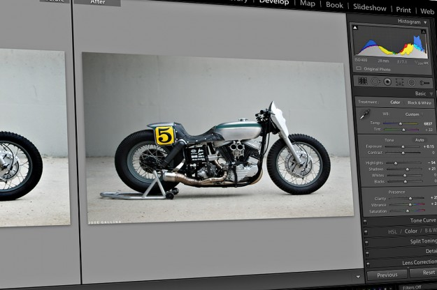 Motorcycle photography: Adobe Lightroom