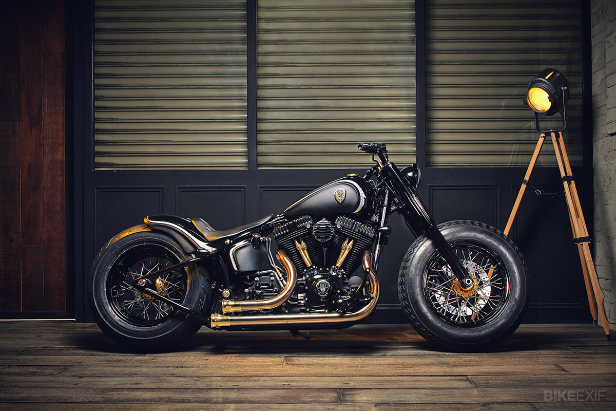 harley softail slim by rough crafts bike exif. Black Bedroom Furniture Sets. Home Design Ideas