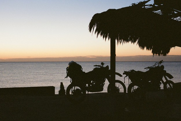 Adventure motorcycles: on the beach