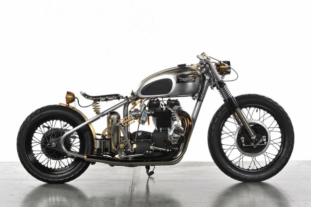 Triumph hardtail motorcycle by Analog