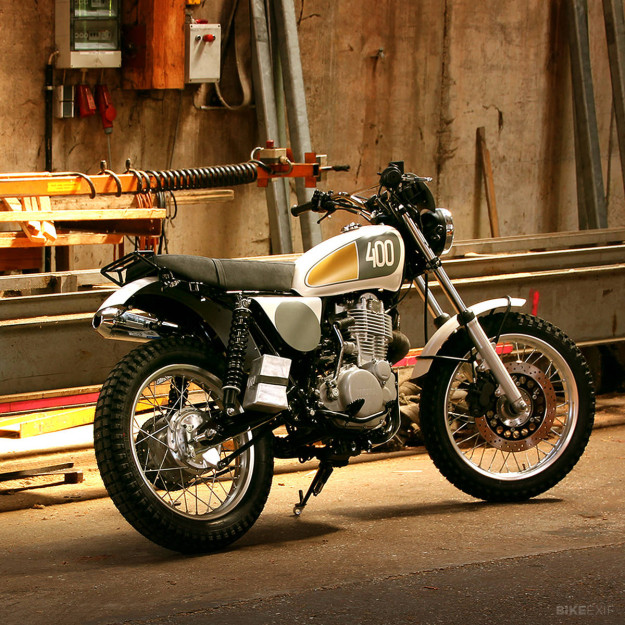 Yamaha SR400 'Yard Built' by the German motorcycle workshop Benders.