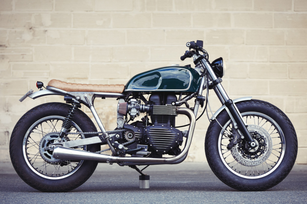 Bonneville T100 customized by Clutch Custom Motorcycles