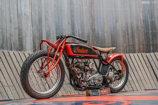 An original Wall of Death Indian Scout
