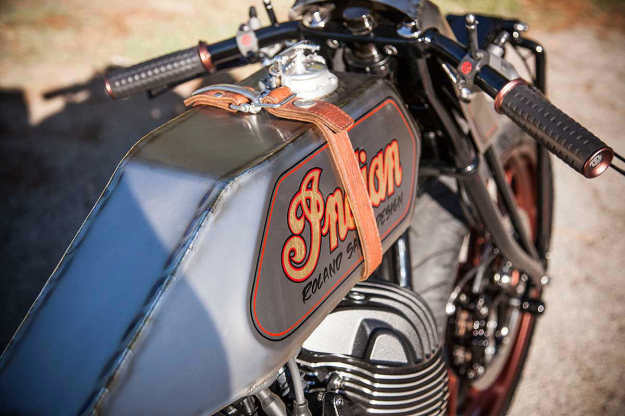 Roland Sands' Indian Chieftain-powered boardtracker custom motorcycle.