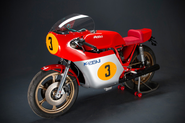 The Magni Filo Rossi: a classic GP replica racer powered by an MV Agusta Brutale 800 engine.