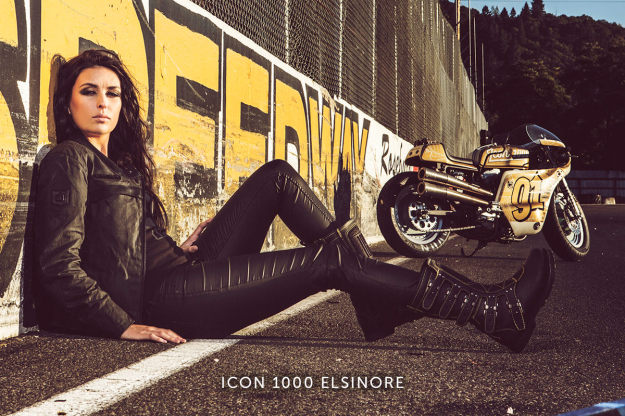 Icon 1000 Elsinore women's motorcycle boots.