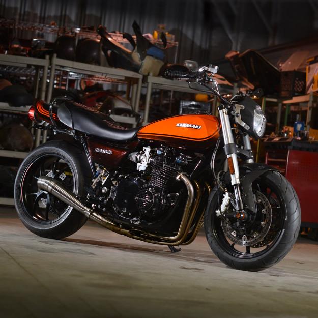 Santiago Chopper's stunning Kawasaki Z1000 cafe racer.