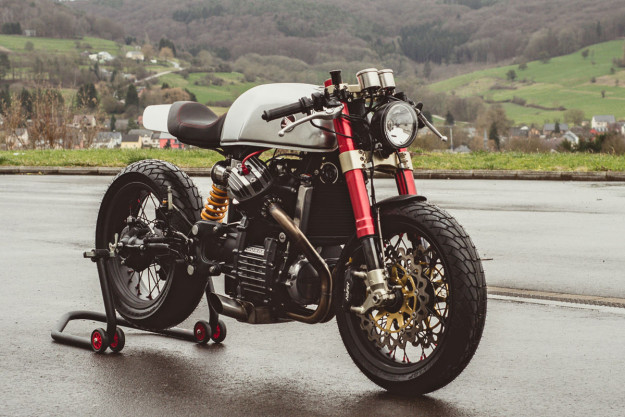 The Top 10 Custom Motorcycles of 2015: Sacha Lakic's Honda CX500 cafe racer.