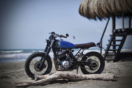 Marco di Marcelloworks as a physiotherapist—but he has build custom Honda Dominator NX650 worthy of a pro garage.