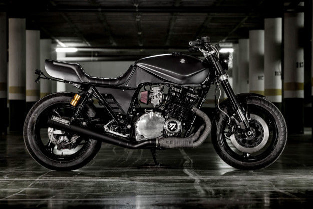 Iron Fist: A brutal Suzuki Katana custom motorcycle from Macco Motors.