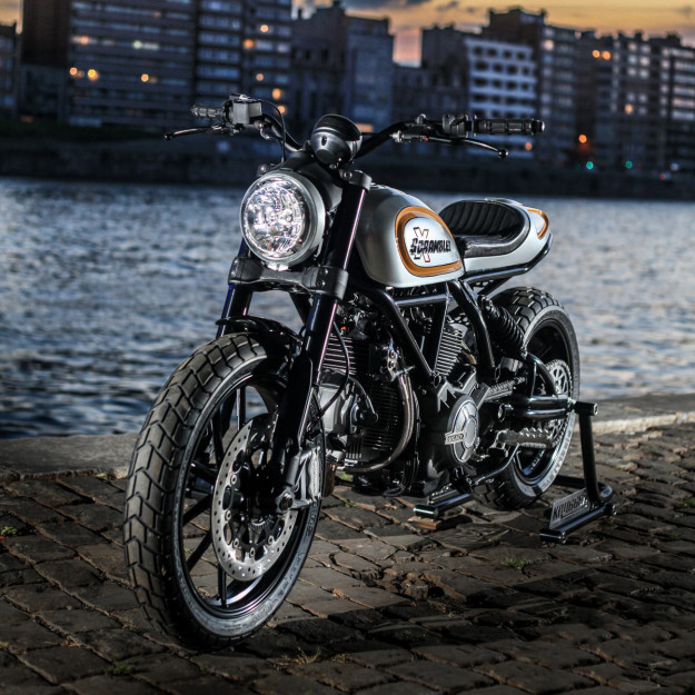Custom Ducati Scrambler by world champion bike builder Fred Krugger.