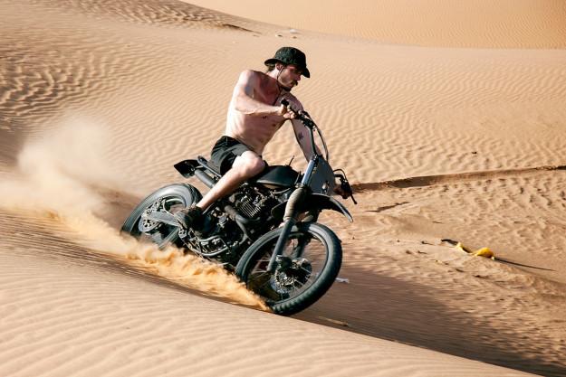 This custom Yamaha XT 600 was built to follow a Dutch rally team around Morocco.