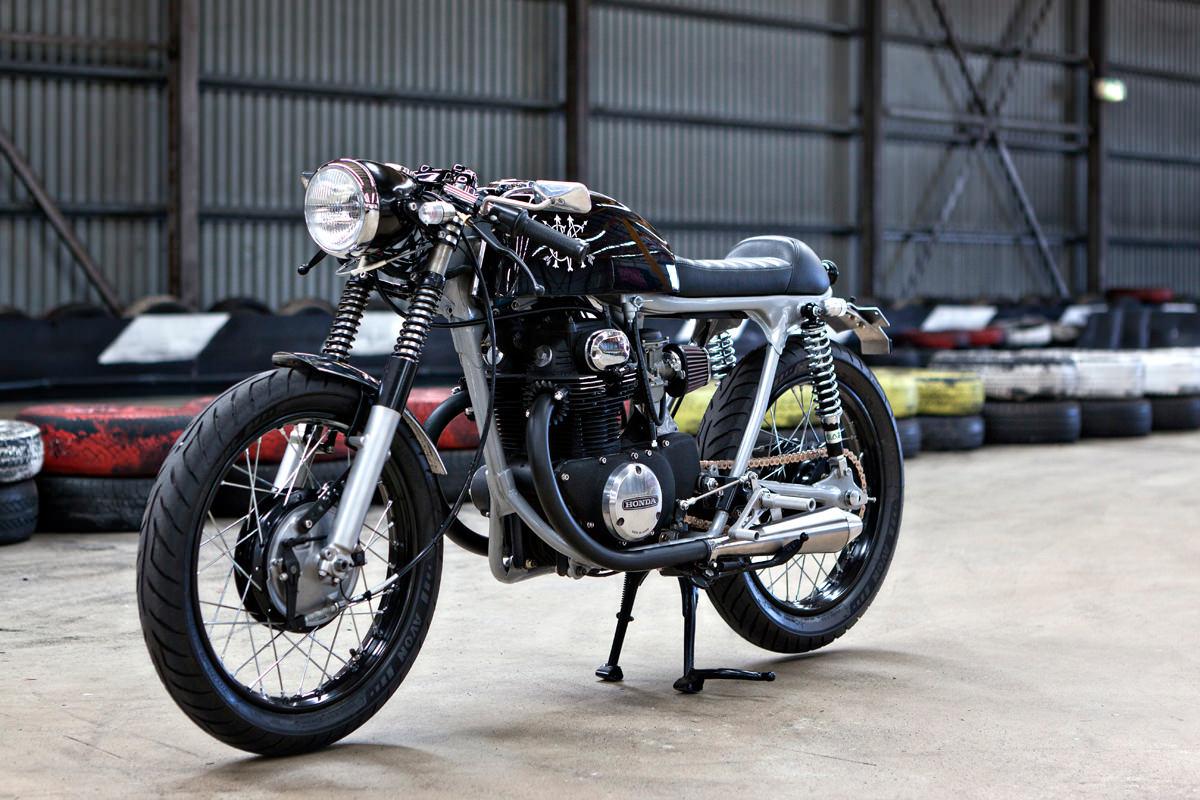 the black a stealthy honda cb350 from australia bike exif
