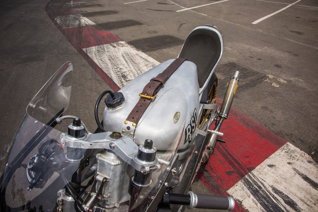 Roland Sands crashed the party at the Born Free chopper show with this insane Yamaha 2-stroke custom.