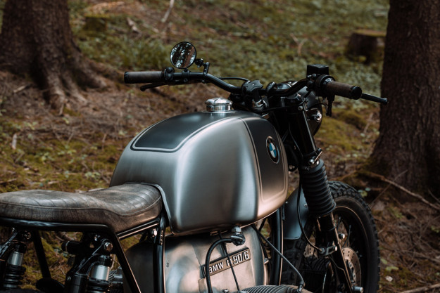 An immaculate BMW R90 resto-mod from Kontrast Kreations of Switzerland.