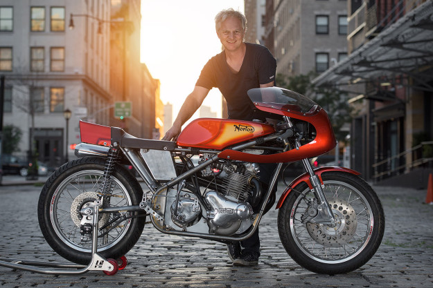 Sunburst: A dazzling 1972 Seeley Commando from NYC Norton.