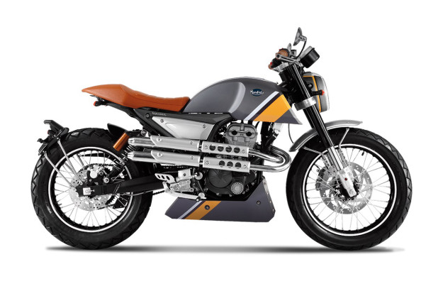 The good-looking but unfortunately-named Mondial Hipster motorcycle.