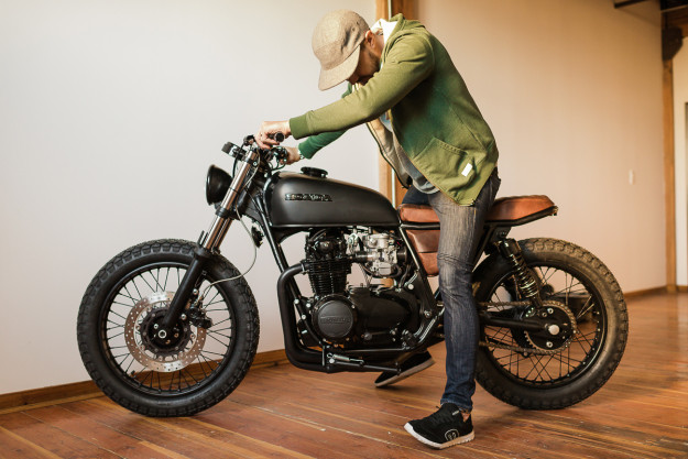 This 1975 Honda CB550 is not your typical CB cafe racer. It's probably one of the fastest vintage Hondas we've ever seen.