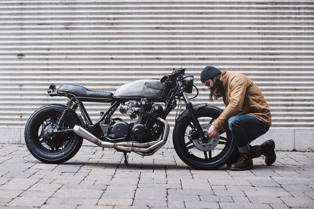 This Honda CB900 Custom from Clockwork Motorcycles has 10 speeds.
