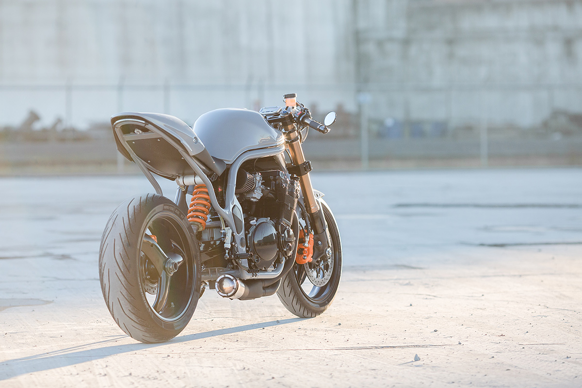 the outlaw turning the suzuki bandit 600 into a modern. Black Bedroom Furniture Sets. Home Design Ideas