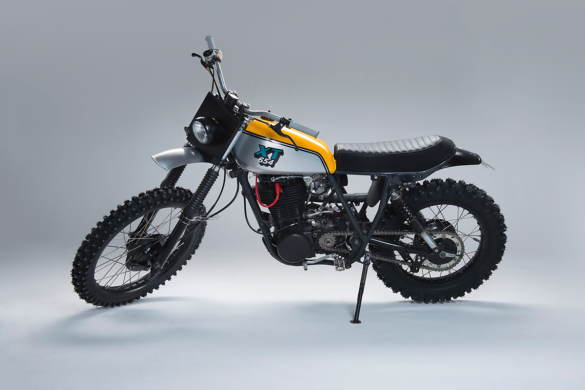 a yamaha xt500 built to blast through swedish forests | bike exif