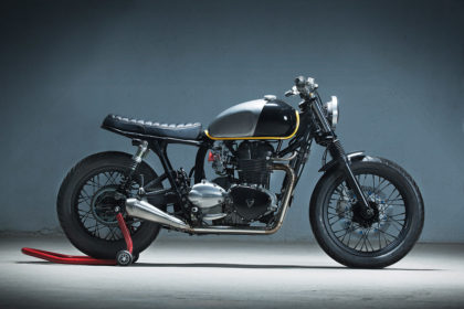 Showstopper: A Triumph Bonneville custom by Kiddo Motors.