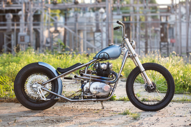 Blue Is The Color: An ice-cool Yamaha XS650 bobber