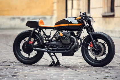 Moto Guzzi V65 cafe racer by Ventus Garage of Poland.