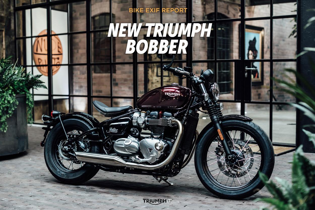 revealed the new triumph bonneville bobber bike exif