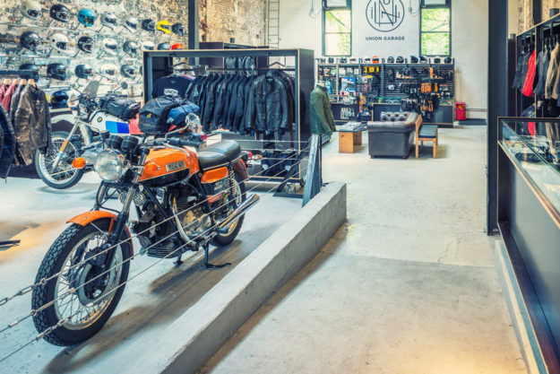 A look behind the scenes at one of New York's top motorcycle shops, Union Garage.