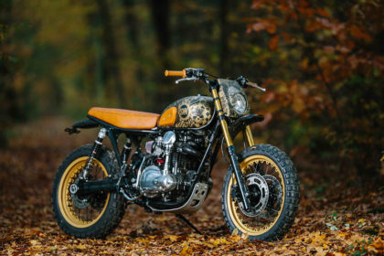 Tattoo You: A heavily inked Kawasaki W650 scrambler by Schlachtwerk
