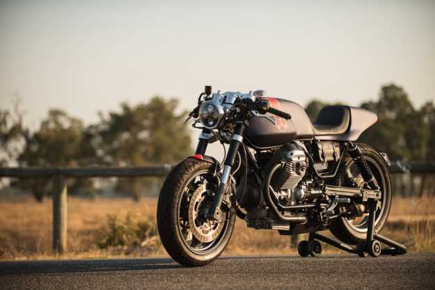 a moto guzzi breva cafe racer inspired by red bull f1 cars. Black Bedroom Furniture Sets. Home Design Ideas