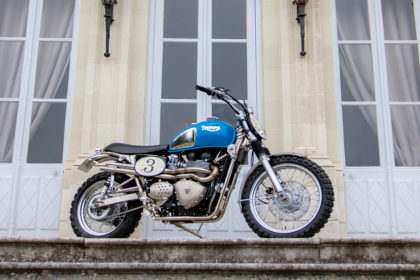 Customized 2016 Triumph Bonneville, ISDT style