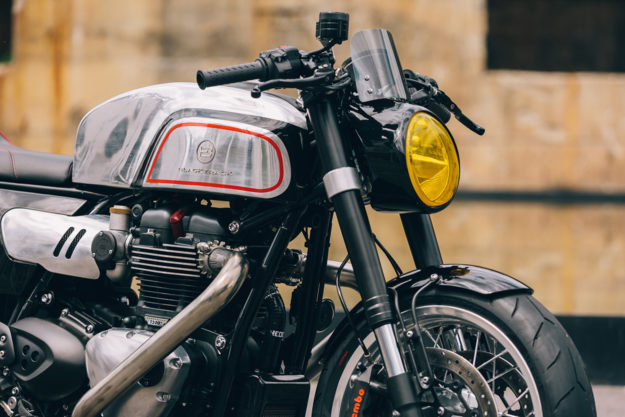 Blacktrack Motors' Manx-inspired Triumph Thruxton R