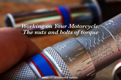 Torque wrenches for motorcycles