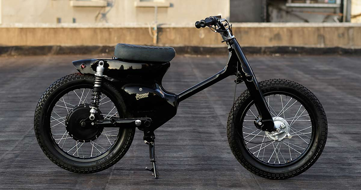 How to turn the Honda Cub into an electric motorcycle