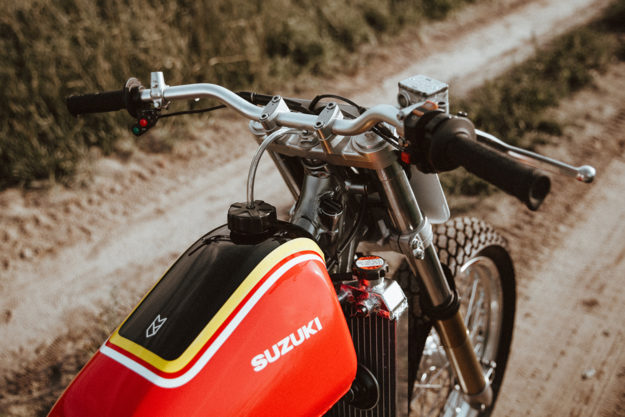Customs by Frank's Suzuki DR-Z400 flat tracker