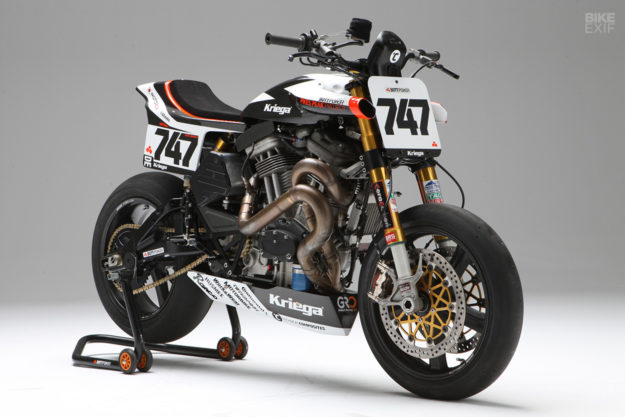 The BOTT XR1R Pikes Peak motorcycle—winner win of the Exhibition Powersport class