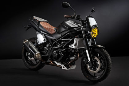 Finally, there is a custom kit for the Suzuki SV650.