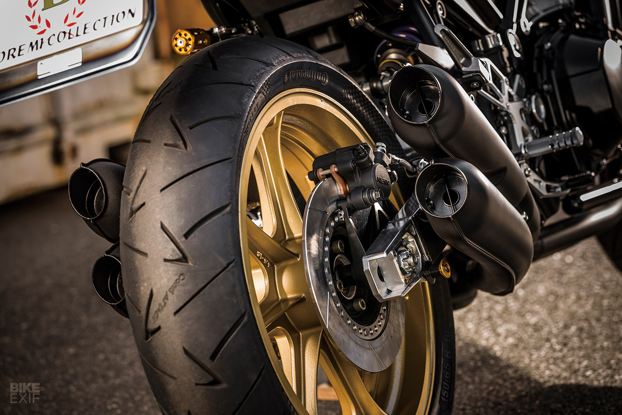 Beyond Z The Kawasaki Factory Z900rs Custom Project Bike Exif Z1 900 Engine Diagram Ama Style Disc Brakes Combined With 18 Inch Morris Mag Wheels Perfectly Match Bikes Of Era And To Achieve Right Silhouette Swingarm Was