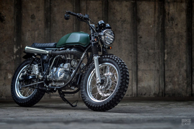 Custom Royal Enfield Continental GT scrambler by K-Speed